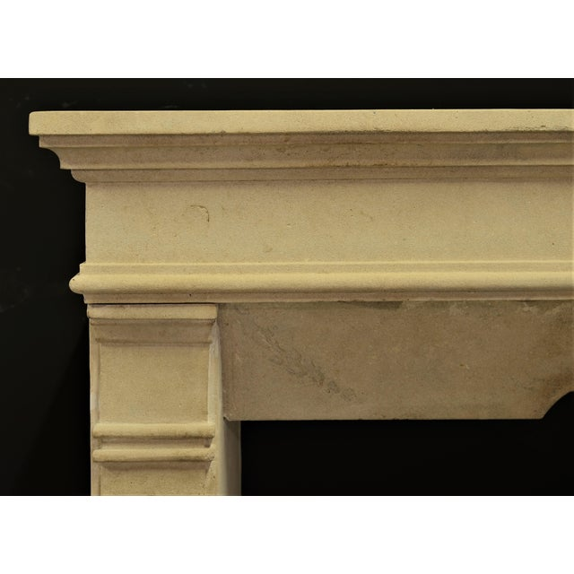 Antique Fireplace Mantel From France For Sale - Image 4 of 9