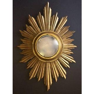1940s French Soleil Sunburst Giltwood Carved Sunburst Mirror Preview