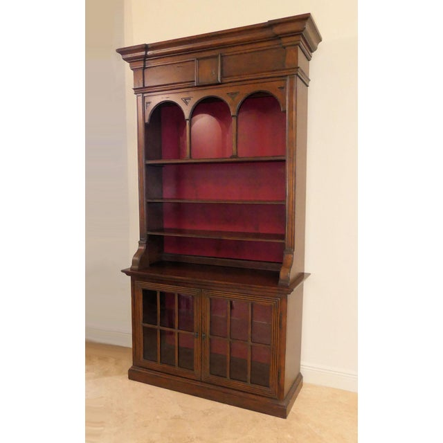 Hekman Display Cabinet Bookcase Hutch For Sale - Image 13 of 13
