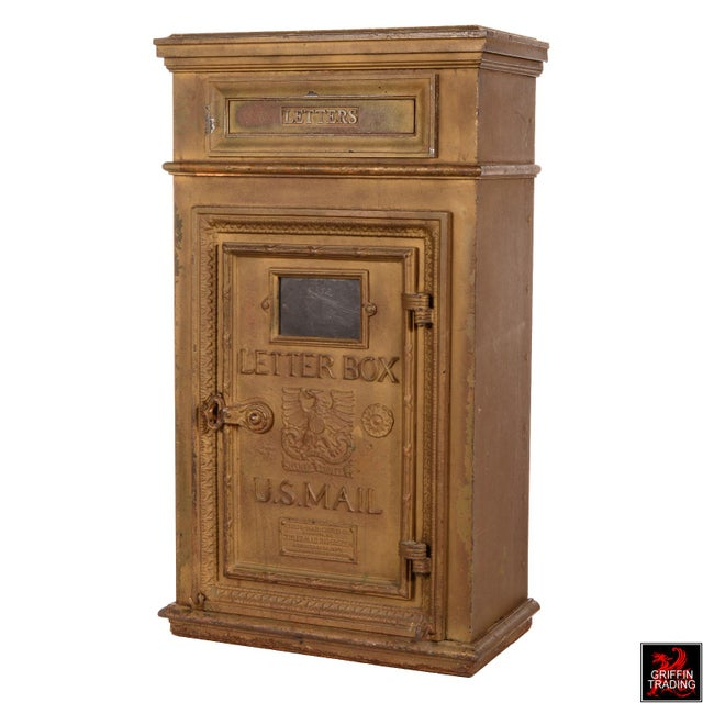 1900 - 1909 Antique Cutler Mailbox and Mail Chute For Sale - Image 5 of 11