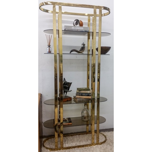 1970s Hollywood Regency Brass Etagere - Image 3 of 5