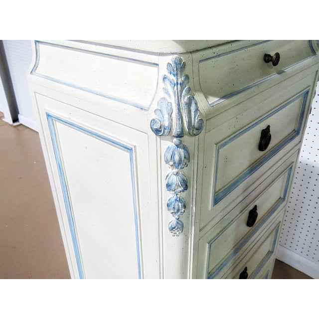 Blue Pair of Swedish Louis XVI Style Lingerie Chests For Sale - Image 8 of 9