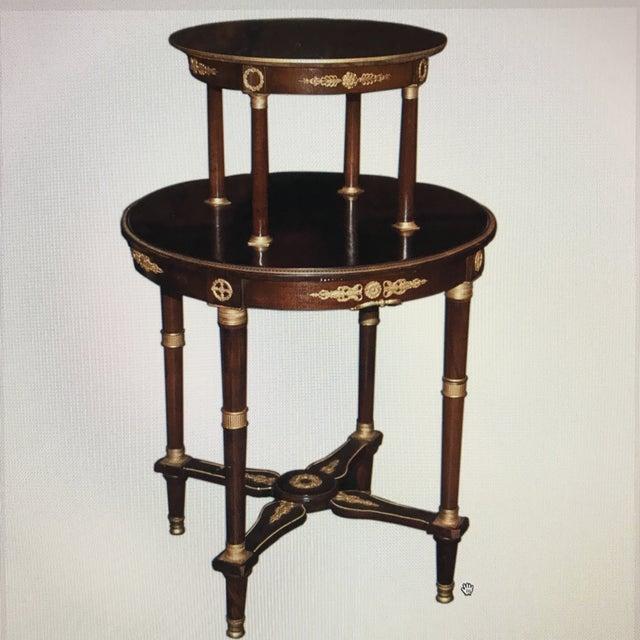 Doré Bronze Wooden Double Level Table - Image 2 of 5