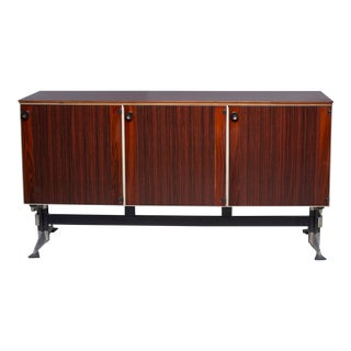 Mid-Century Rosewood Three Door Cabinet For Sale
