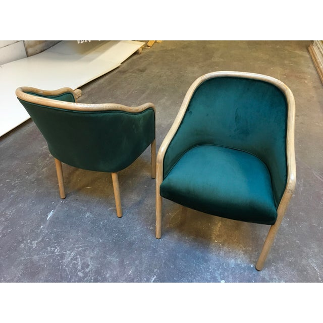1980s Vintage Ward Bennet Cerused Oak Chairs- A Pair For Sale In Los Angeles - Image 6 of 12