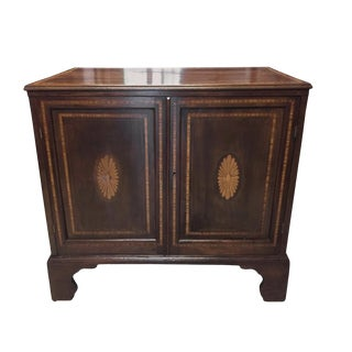 19th Century English Regency Mahogany Cabinet or Cupboard With Inlay For Sale