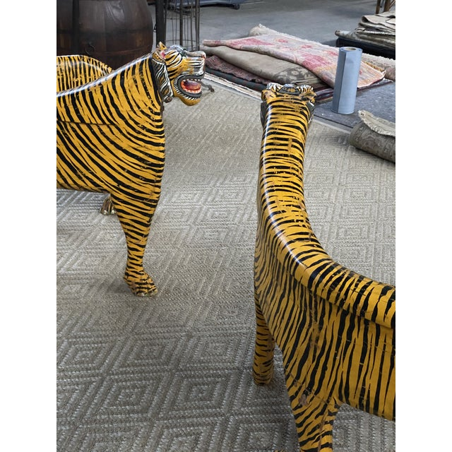 Yellow 1970s Vintage Tiger Tub Chairs- a Pair For Sale - Image 8 of 13