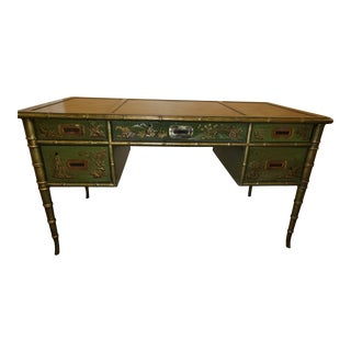 1960s Vintage Drexel Chinoiserie Desk For Sale