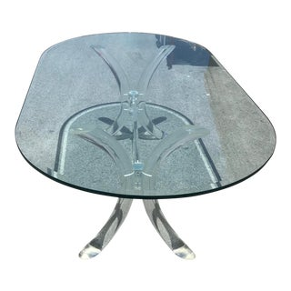 Mid Century Modern Lucite Dining Room Table For Sale