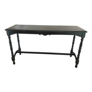 Antique Black Entrance Table For Sale