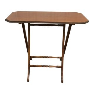 1990s Traditional Light Cherry Wood Folding Table For Sale
