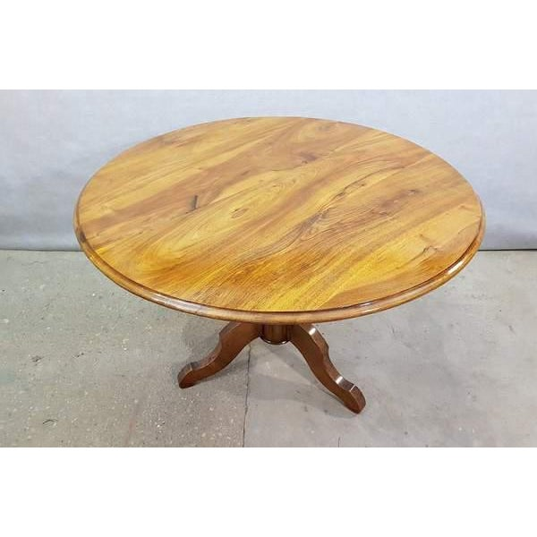French Antique French Walnut Round Tilt Top Occasional Side Breakfast Table For Sale - Image 3 of 13