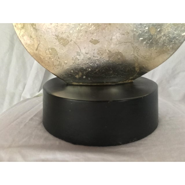 Metal Mid Century Modern Silver Table Lamp For Sale - Image 7 of 8