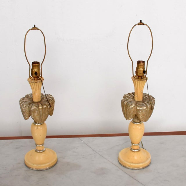 Neoclassical Sculptural Table Lamps, Circa 1940s For Sale - Image 4 of 12
