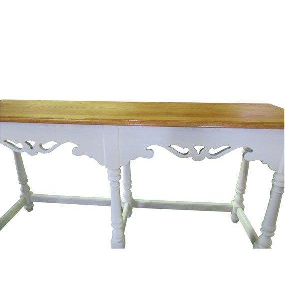 Ethan Allen Ethan Allen Farmhouse Cottage Painted Console Sofa Table For Sale - Image 4 of 6