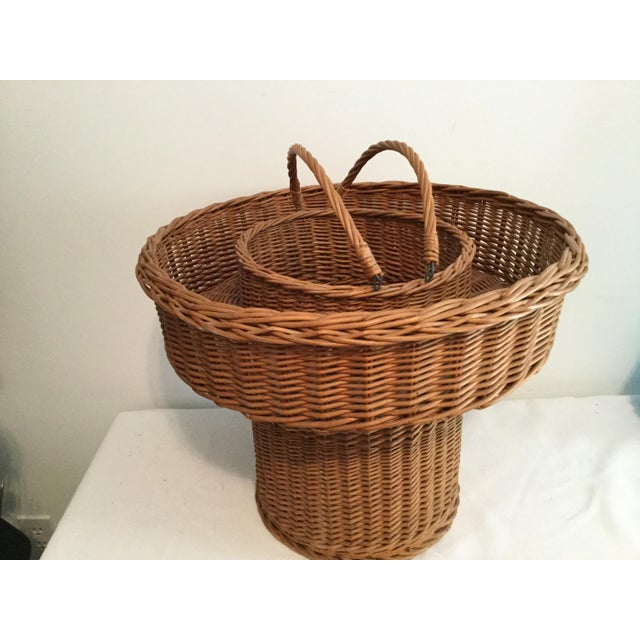 Basket With a Wooden Bottom For Sale - Image 4 of 12