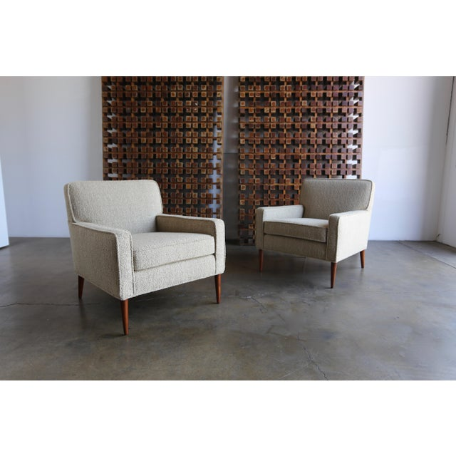 Paul McCobb for Directional pair of lounge chairs model #3022. This pair has been professionally restored.