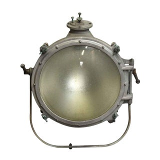Vintage Mid-Century Salvaged Westinghouse Industrial Floodlight For Sale