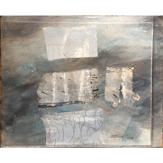 Abstract Silver Paradigm 1980s Mixed Media Abstract For Sale - Image 3 of 10