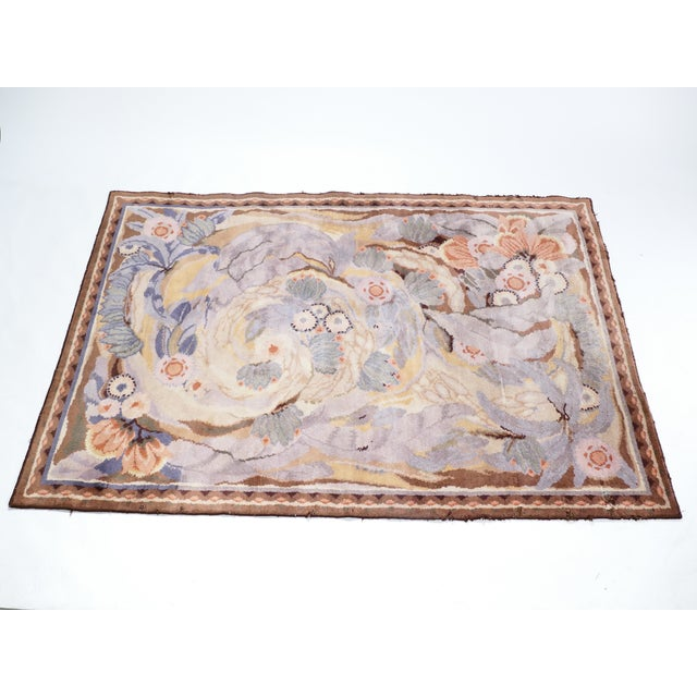Maurice Dufrene designed this carpet for the famed studio La Maitrise of Les Galeries Lafayette in Paris in 1922, just as...
