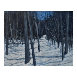 "Stephen Remick ""Moonlit Snowy Path"" Contemporary Painting For Sale"
