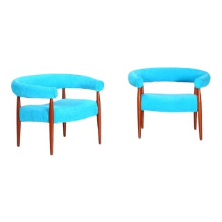 Pair of Original Nanna Ditzel Ring Chairs For Sale
