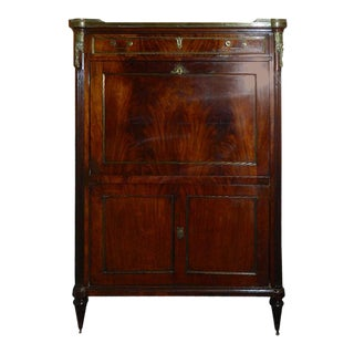 Louis XVI-Style Mahogany and Marble-Top Secretaire For Sale