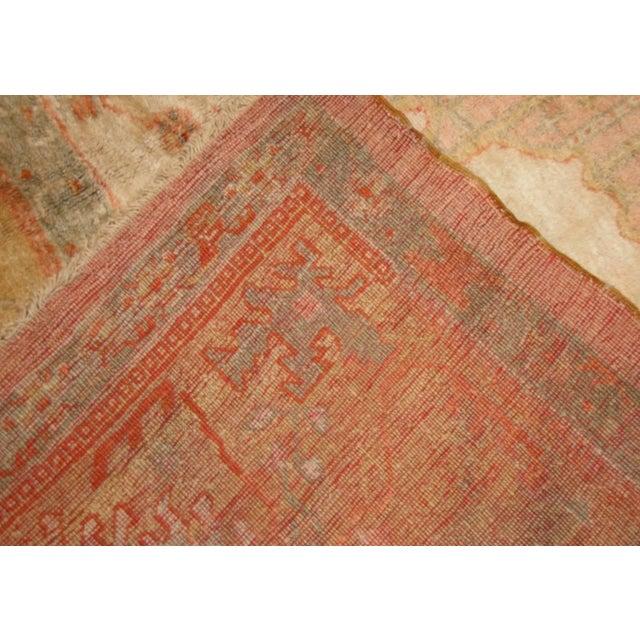 Textile Antique Turkish Oushak Rug - 13′3″ × 15′9″ For Sale - Image 7 of 8