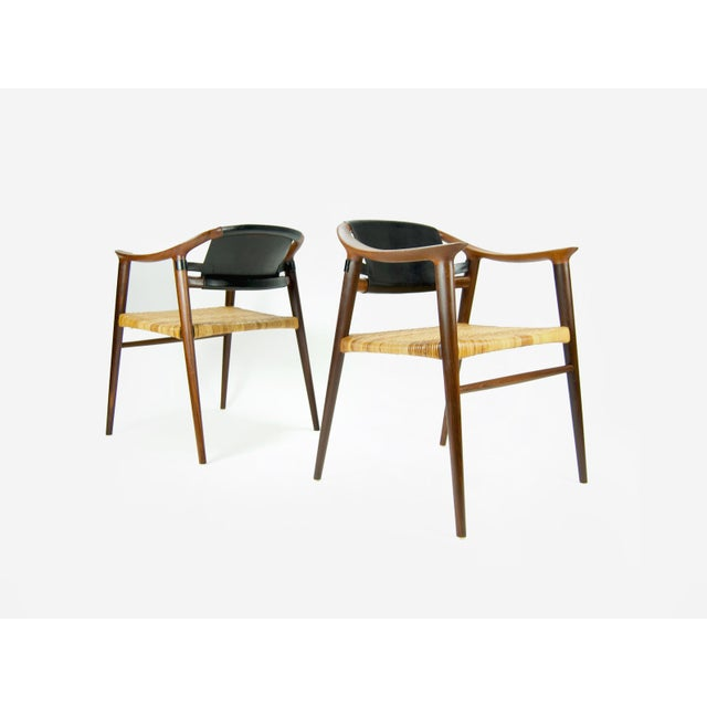 "1960s Vintage Rolf Rastad and Adolf Relling ""Bambi"" Armchairs - A Pair For Sale - Image 13 of 13"
