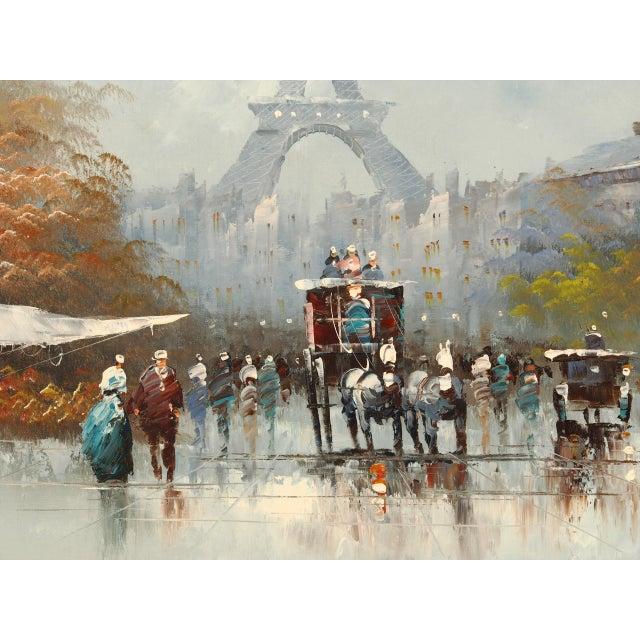Paris City Street Original Oil Painting For Sale - Image 4 of 8