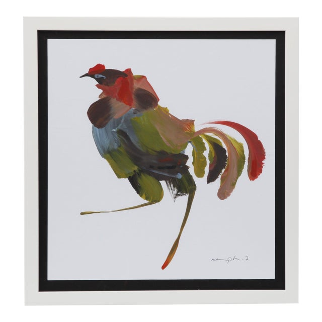 Framed Figurative Rooster Painting - Image 1 of 5