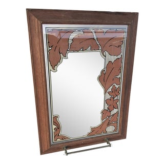 Vintage Bathroom Wall Mirror With Towel Bar For Sale