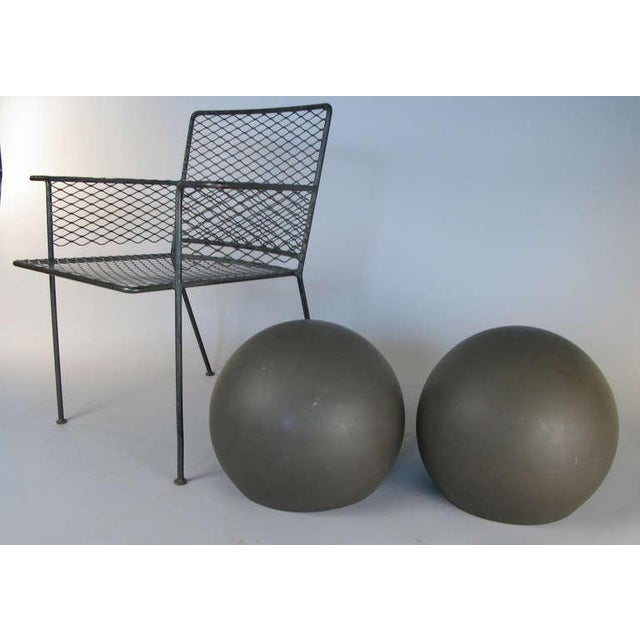 1960s Pair of Large Sphere Wall Sconces From Avery Fisher Hall For Sale - Image 5 of 6
