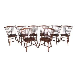 Pennsylvania House Solid Cherry Windor Brace Back Dining Chairs- Set of 8