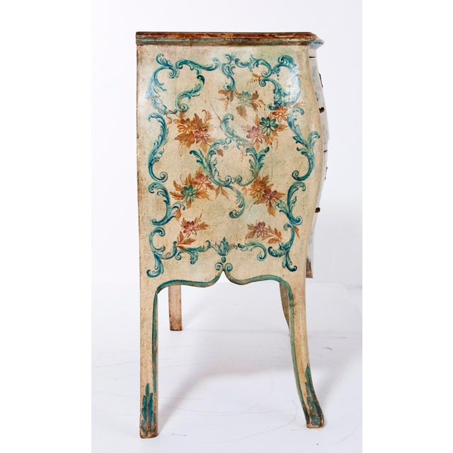 Italian Mid 20th Century Italian Painted Commodes - a Pair For Sale - Image 3 of 8