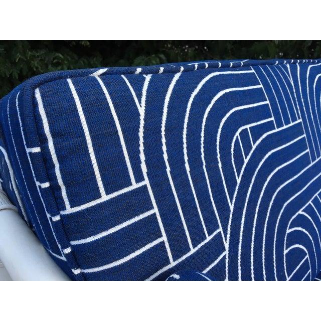 Rattan Mid Century Tuxedo Sofa - Image 6 of 8
