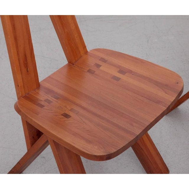 1970s Pair of Two Pierre Chapo S45 Chairs in Solid Elm For Sale - Image 5 of 6