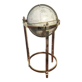 Jansen Style Cram's World Axis Globe on Brass Stand For Sale