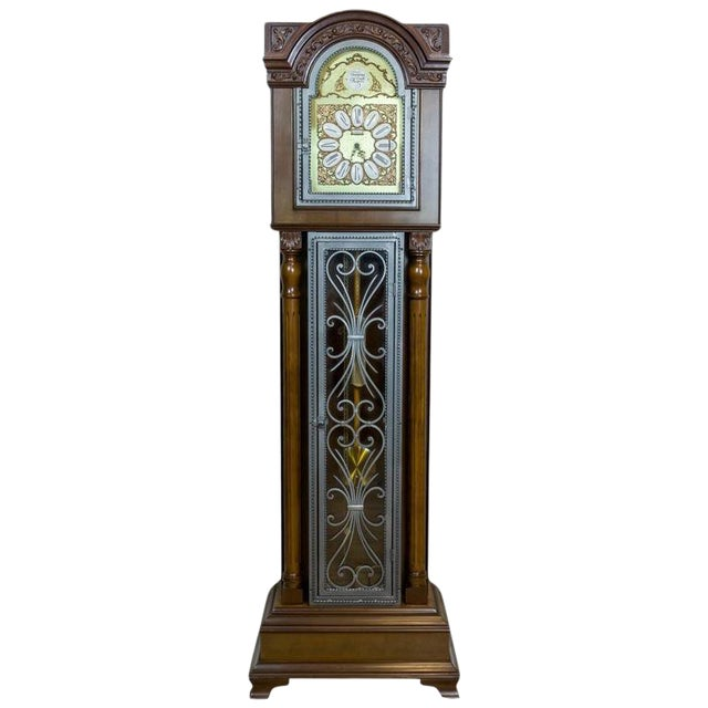 20th Century Tempus Fugit Grandfather Clock with a Chime For Sale
