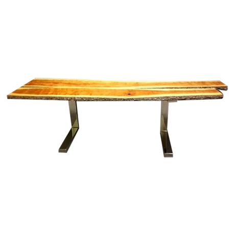 Long Cherry Wood Console