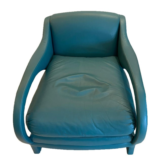Leather Jay Spectre Tycoon Leather Lounge Chairs- a Pair For Sale - Image 7 of 8