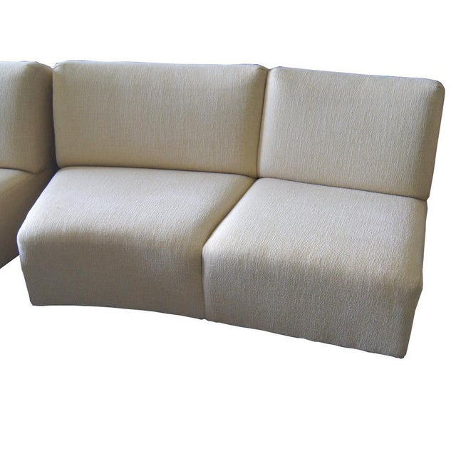 Wood Thonet Large Serpentine Sectional Sofa For Sale - Image 7 of 9