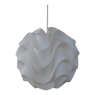 Mid-Century Modern Origami Plastic-Paper Chandelier For Sale