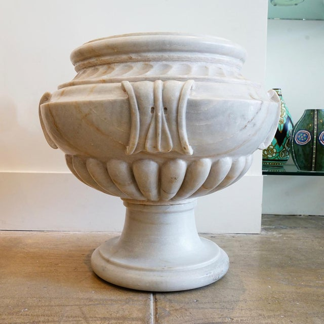 This is a vintage Italian Marble Planter, Very Heavy!