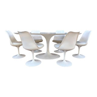 1980's Danish Modern Eero Saarinen for Knoll Dining Set - 7 Pieces For Sale