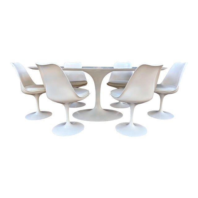 Vintage Eero Saarinen for Knoll Tulip Dining Set - 7 Pieces For Sale