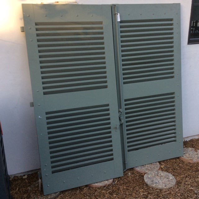 Country French Shutters- a Pair For Sale - Image 3 of 11