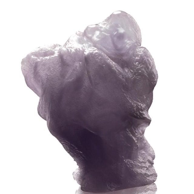 A crystal glass Buddha figurine embodying all encompassing joy from the Matreiya, Happy Buddha series by LIULI. Color:...