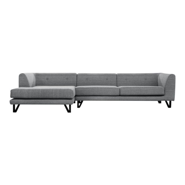 Sarreid LTD Bella Donna Gray Sectional Chaise - Image 1 of 6