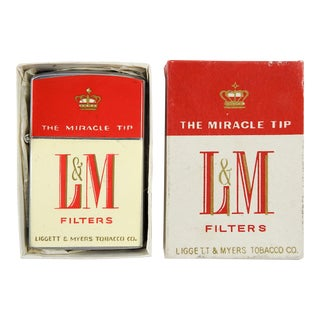 L&M Cigarette Lighter in Box
